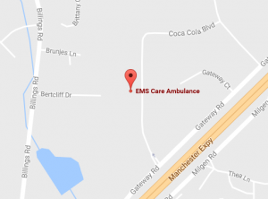 EMS Care Ambulance Map